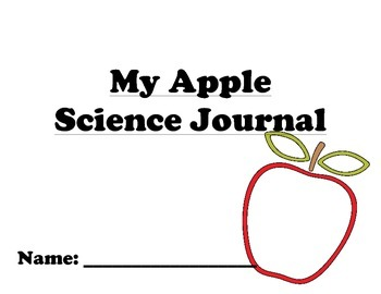 Apple Science Journal - Perfect for special needs or early childhood learners!