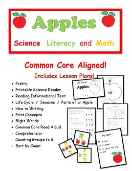 Apple Science Pack: Includes Lesson Plans, Math and ELA