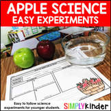 Apple Science Experiments for Little Learners - Kindergarten, First Grade