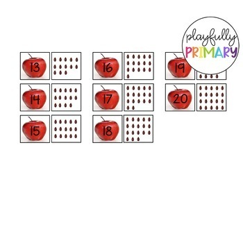 Apple Seed Count and Match | 1-20