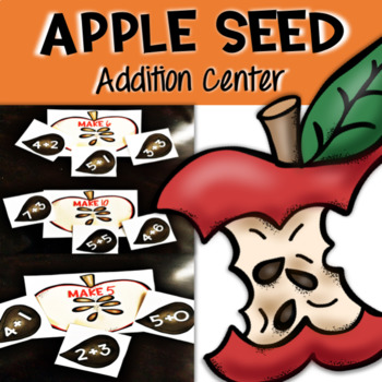 Math Center - Apple Seed Addition to 20