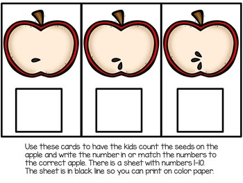Apple Seed Counting NUM 1-10