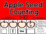 Apple Seed Counting NUM 1-10 in Spanish