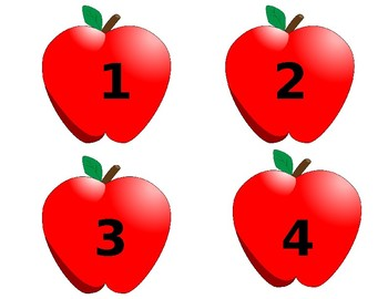 Apple Seed File Folder Match: Numbers 1-20