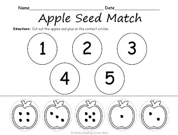 Apple Seed Match- Back to School FREEBIE