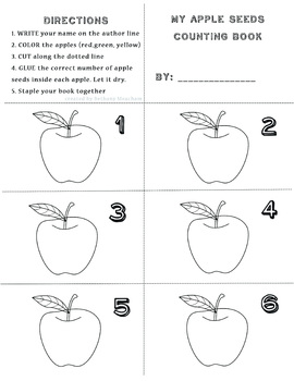 Apple Seeds Counting Book