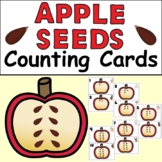 Apple Seeds Counting Cards Math Centre (ASL Included)