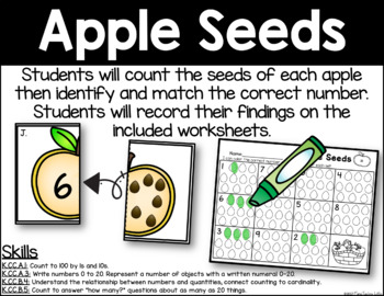 Apple Seeds - Number Identification
