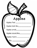 Apple Senses Writing Activity