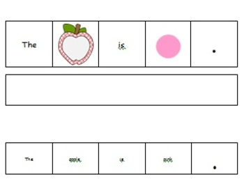 Apple Sentence Building with Colors