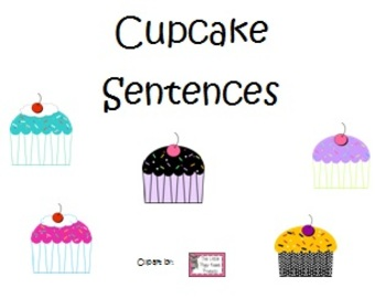 Cupcake Sentence Building with Colors
