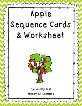 Apple Sequence Cards & Worksheet