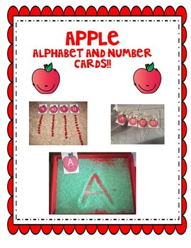 Apple Sequence Letter and Number cards