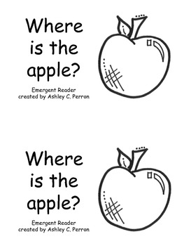 Apple Shape Emergent Reader