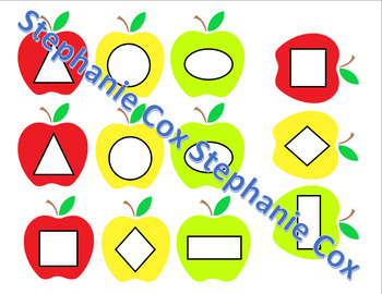 Apple Shape File Folder Game