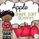 Apple Shape Sort Activity (Preschool)