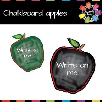 Apple-Shaped Chalkboard [Back to School]