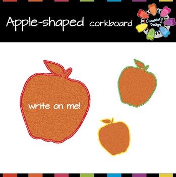 Apple-Shaped Corkboard [Back to School]