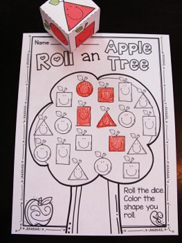 Apples Theme 2D Shapes Activities