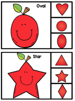Apple Shapes Clip Cards
