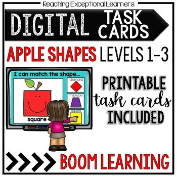Apple Shapes Boom Task Cards