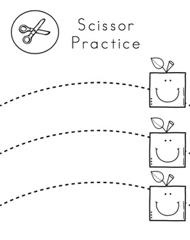 Apple Shapes Scissor Practice for Toddlers