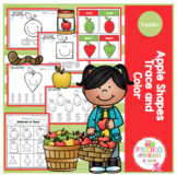 Apple Shapes Trace and Color (Toddler)