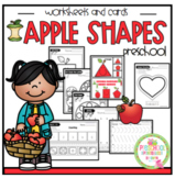Apple Shapes Worksheets with Math Included