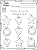 Apple Shapes for Toddlers Printable