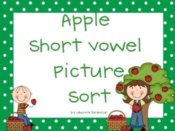 Apple Short Vowel Picture Sort