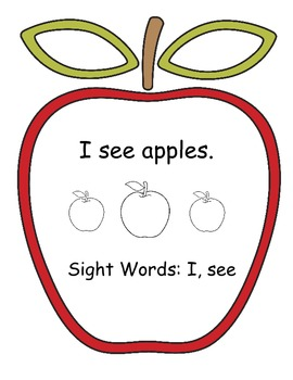 Apple Sight Word Booklet