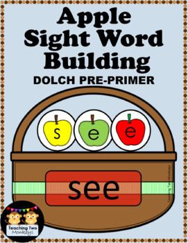 Apple Sight Word Building DOLCH PRE-PRIMER