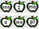 Apple Sight Word Cards / Kindergarten