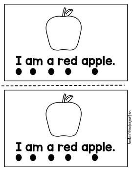 Apple Sight Word Emergent Reader Book