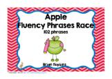 Apple Sight Word Fluency Phrases Race