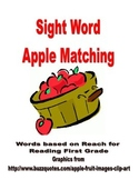 Apple Sight Word Matching