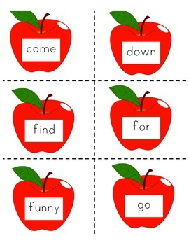 Apple Sight Word Memory