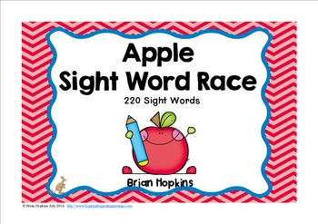 Apple Sight Word Race