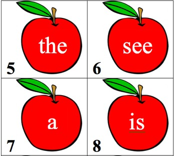Apple Sight Word Search