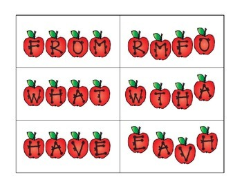 Apple Sight Words