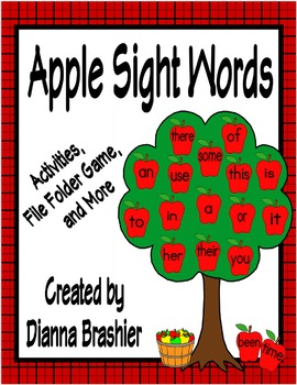 Apple Theme Sight Words Activities (High Frequency Words Literacy First)