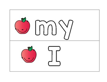 Apple Sight Words for Literacy