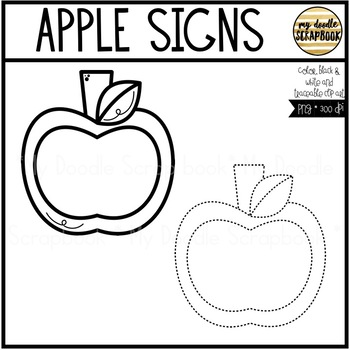 Apple Signs (Clip Art for Personal & Commercial Use)