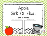 Apple Sink Or Float Worksheet