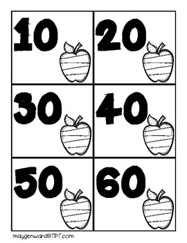 Apple Skip Counting Cards