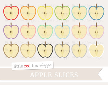 Apple Slice Clipart; Fruit, Produce