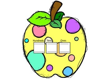 Apple Sliders Place Value Packet