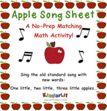 Apple Math - Counting Sets Song Sheet