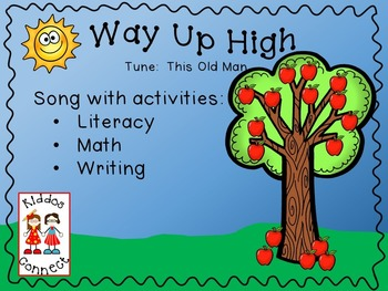 Apple Song - Way Up High with Literacy and Math activities