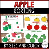 Apples Sort By Size - Big and Small | Sorting Work Mats an